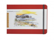 Global Art Materials 14cm by 21cm Drawing Book, Large Landscape in Vermillion Red