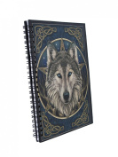 Lisa Parker 'The Wild One' Celtic Wolf Spiral Hard Cover Journal