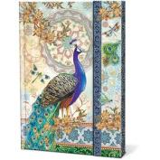 Royal Peacocks Punch Studio Magnetic Closure Journal