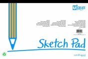 U:Create Sketch Pad, 46cm x 30cm , White, 50 Sheets