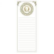 Grasslands Road Cucina Monogram Metallic Gold Letter Initial O Magnetic Memo Pad