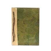 All Natural Handmade Journal/Scrapbook - Butterfly Leaves Plain Design