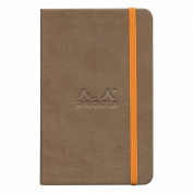 Rhodiarama A6 Lined Notebook Taupe