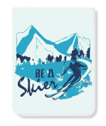 Just Be PK-14336-SKI Just Be a Skier Lined Pocket Pad/Notebook