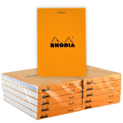 Rhodia Classic Orange Notepad 3X4 Grid 10Pk