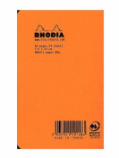 Rhodia Staplebound Notebooks graph, orange cover 7.6cm . x 12cm . 24 sheets [PACK OF 10 ]
