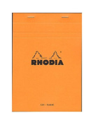 Rhodia Classic French Paper Pads blank 15cm . x 21cm . orange [PACK OF 4 ]