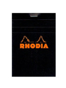 Rhodia Classic French Paper Pads graph 8.6cm . x 12cm . black [PACK OF 8 ]