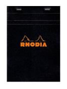 Rhodia Classic French Paper Pads graph 15cm . x 21cm . black [PACK OF 4 ]