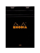 Rhodia Classic French Paper Pads ruled with margin 15cm . x 21cm . black [PACK OF 4 ]