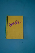 Doodlz BJ46WY Black Page Journal 10cm x 15cm Yellow Cover Wirebound Sketchbook Made in USA