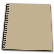 InspirationzStore Solid Colours - Khaki brown - beige - simple plain solid colour - army light pale brown-grey-grey - Drawing Book