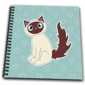 Janna Salak Designs Cats - Kawaii Cats - Cute Siamese Kitty - Drawing Book