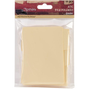 ATC Tabbed File Folders 7.6cm x 9.5cm 12/Pkg-
