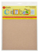 Grafix 22cm by 28cm Natural Chipboard Sheets, Pack of 6