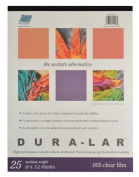 Grafix Clear .005 Dura-Lar Film, 23cm by 30cm , 25 Sheets