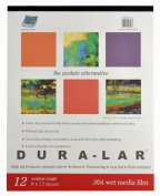 Grafix Wet Media .004 Dura-Lar Film, 23cm by 30cm , 12 Sheets