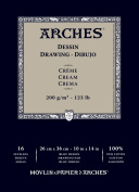 Traditional Cream Drawing Pad (16 Sheet) Size