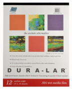 Grafix Wet Media .004 Dura-Lar Film, 48cm by 60cm , 12 Sheets