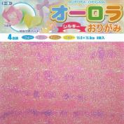 Toyo Aurora Origami Paper Silky 15cm, 4 Colour Tone, 8 Sheets