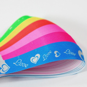 100 Origami Lucky Star Glow Love Script Plain Paper Ribbon Wish Neon