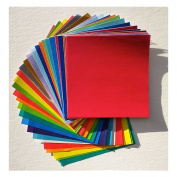 "Origami Paper - 55 Solid Colour Sheets 3-7/8"" (10cm) Square"