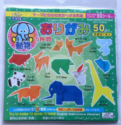 Authentic Origami Paper Animals - 50 Sheets, 12 Animals with English Instructions