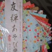 Japanese Yuzen (Chiyogami) Origami Paper 15cm Size, 14 Sheets