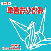 Toyo Origami Paper Single Colour - Pale Sky Blue - 15cm, 100 Sheets