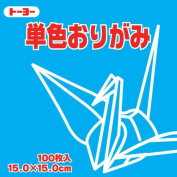 Toyo Origami Paper Single Colour - Sky Blue - 15cm, 100 Sheets