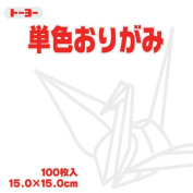 Toyo Origami Paper Single Colour - White - 15cm, 100 Sheets