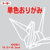 Toyo Origami Paper Single Colour - Light Grey - 15cm, 100 Sheets