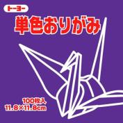 Toyo Origami Paper Single Colour - Purple - 11.8cm, 100 Sheets