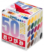 Toyo Thousand Paper Cranes Origami 7cm, 50 Colours, 1000 Sheets