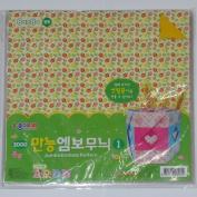 25cm Jumbo Emboss Pattern Origami Paper #1 / 40 Sheets