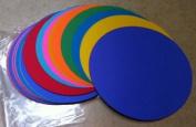 100 Colour Construction Paper Die-Cut Circles 25cm diameter