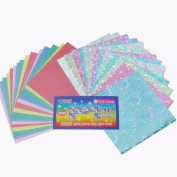 7.6cm Shinny Hologram Origami Paper 450 Sheets