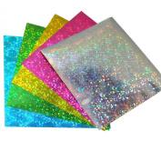 15cm Shinny Hologram Origami Paper 75 Sheets