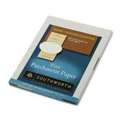 Southworth Colour + Textures Collection™ Fine Parchment Paper, 22cm . x 28cm ., 24 Lb., Ivory, Pack Of 80