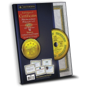 Southworth Foil-Enhanced Certificates with CD, 22cm x 28cm , Gold Border, 15 per Pack