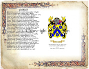 Goldfaden Coat of Arms/ Family Crest on Fine Paper and Family History.
