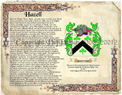 Hazelwood Coat of Arms/ Family Crest on Fine Paper and Family History.