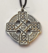Findlays Celtic Cross - Pewter Pendant - Equal Arm Cross, Knotwork Jewellery