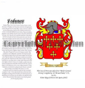 Fedunov Coat of Arms/ Family Crest on Fine Paper and Family History