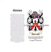 Haverson Coat of Arms/ Family Crest on Fine Paper and Family History