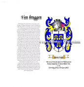 Van bruggen Coat of Arms/ Family Crest on Fine Paper and Family History