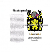 Van den peereboom Coat of Arms/ Family Crest on Fine Paper and Family History