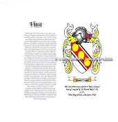 Visco Coat of Arms/ Family Crest on Fine Paper and Family History