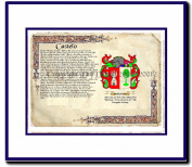 Castelo Coat of Arms/ Family History Wood Framed