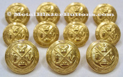 WATERBURY Premium GOLD Toned METAL ~GOLF KING'S ROYAL CREST~ Shank Style Sport Coat BLAZER BUTTON SET